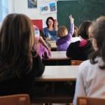 Happy children group in school — Stock Photo #1671201