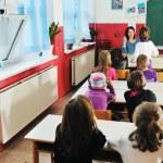 Happy children group in school — Stock Photo #1671232