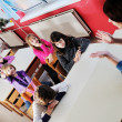 Happy children group in school — Stock Photo #1671289