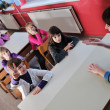 Happy children group in school — Stock Photo #1671327