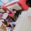 Happy children group in school — Stock Photo #1671337