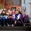 Happy children group in school — Lizenzfreies Foto