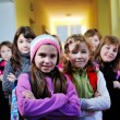 Стоковое фото: Happy children group in school