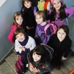 Happy children group in school — Stock Photo #1671578