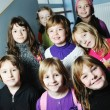 Happy children group in school — Stock Photo #1671587