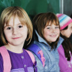 Happy children group in school — Stock Photo #1671640