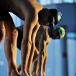 Young swimmmer on swimming start — Stock Photo #1671733
