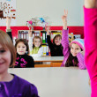 Happy children group in school — Stock Photo #1671844