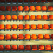 Sport arena seats - Stock Photo