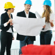 Stock Photo: Young architect team