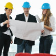 Royalty-Free Stock Photo: Young architect team