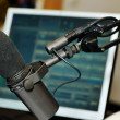 Stock Photo: Radio station microphone