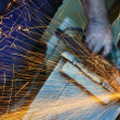 Industry worker sparks - Stock Photo