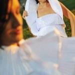 Running bride... — Stock Photo #1675398