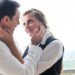 Romantic happpy couple on balcony — Stock Photo #1675828
