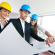 Young architect team — Stock Photo