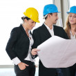 Young architect team — Stock Photo #1676371