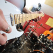 Music band have training in garage - 
