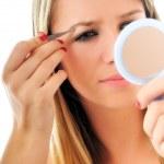 Eye brow beauty treatment — Stock Photo