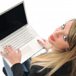 Girl work on laptop — Stock Photo #1677676