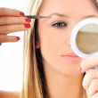 Eye brow beauty treatment — Stock Photo
