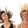 Royalty-Free Stock Photo: Party woman isolated with wind in hair