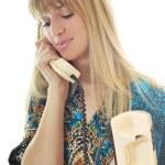 Woman phone — Stock Photo