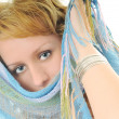 Happy woman scarf - Stock Photo
