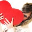Stock Photo: Woman heart isolated