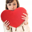 Woman heart isolated — Stock Photo #1678901