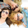 Three woman isolated — Stock Photo