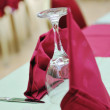 Restaurant table with empty wine glass — Stock Photo #1678967