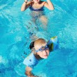 Swimming pool fun — Stock Photo