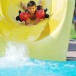 tobogán acuático en la piscina al aire libre — Foto de Stock