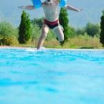 Swimming pool fun — Stock Photo