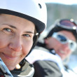 Winer woman ski - Stockfoto