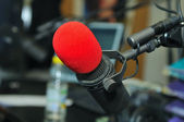 Radio station microphone — Stock Photo
