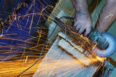 Industry worker sparks — Stock Photo