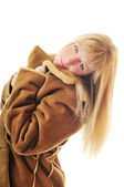 Woman winter coat — Stock Photo
