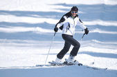 Winer woman ski — Stock Photo