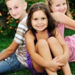 Happy kids outdoor — Stock Photo