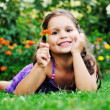 Happy childredn outdoor — Stockfoto