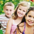 Happy kids outdoor - Stock Photo