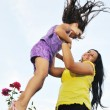 happy mom and daughter outdoor — Stock Photo #1680541