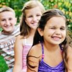 Happy kids outdoor — Stock Photo #1680572