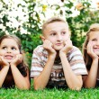 Happy kids outdoor — Stock Photo #1680586