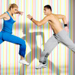 Fitness personal trainer - Stock Photo