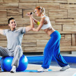 Fitness personal trainer - Lizenzfreies Foto