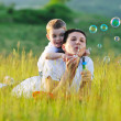 Woman child outdoor — Stock Photo #1681104