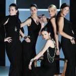 Woman fashion show — Stock Photo
